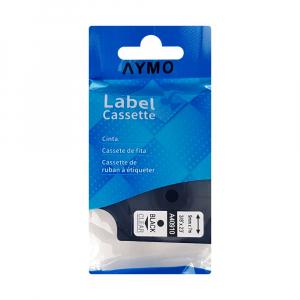 Etichete compatibile DYMO LabelManager D1 24mm x 7m, negru/transparent, 53713 DY53713 S07209203