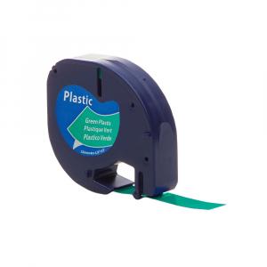 Etichete compatibile DYMO LetraTag 12mmx4m, plastic, verde, 91204 DY912040