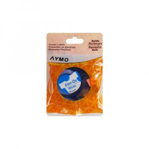 Etichete haine compatibile Dymo LetraTag Iron-On 12mmx2m, albastru pe alb, 18773 DYA187734