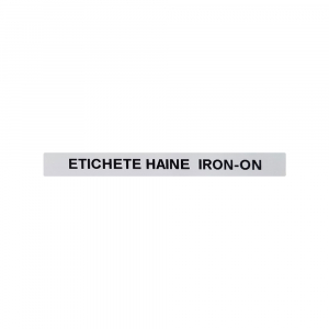 Etichete haine compatibile Dymo LetraTag Iron-On 12mmx2m, negru pe alb, 18769 DY187683