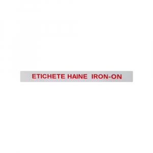 Etichete haine compatibile Dymo LetraTag Iron-On 12mmx2m, rosu pe alb, 18777 DYA187773