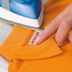Etichete haine compatibile Dymo LetraTag Iron-On 12mmx2m, rosu pe alb, 18777 DYA187772