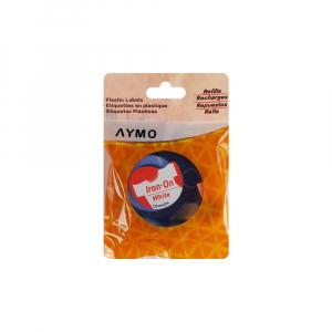 Etichete haine compatibile Dymo LetraTag Iron-On 12mmx2m, rosu pe alb, 18777 DYA187774