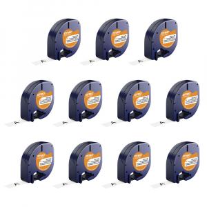 Set DYMO Letratag Iron-On 10 plus 1, etichete pentru haine, 12mm x 4m, alb 11 bucati/set DY18769P 187690