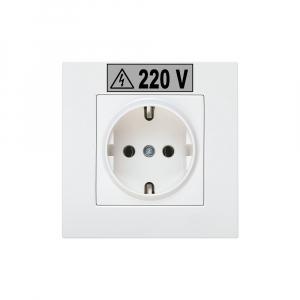 Etichete industriale autocolante compatibile, DYMO ID1, poliester permanent, 19mm x 5.5m, negru/argintiu, 184873