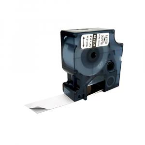 Etichete industriale autocolante compatibile nailon flexibil, 19mm x 3.5m, negru/alb, 18489 S0718120-C0