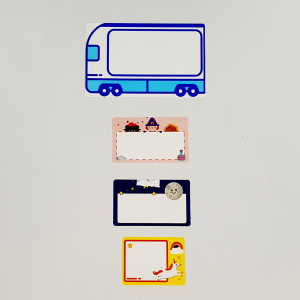Etichete termice scolare 40 x 30mm UNICORN, poliester alb, imprimate cu model UNICORN, adeviz permanent, 1 rola, 230 etichete/rola, pentru imprimantele M110 si M2002