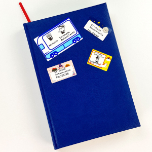 Etichete termice scolare 40 x 30mm UNICORN, poliester alb, imprimate cu model UNICORN, adeviz permanent, 1 rola, 230 etichete/rola, pentru imprimantele M110 si M2001