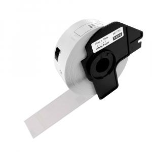 Etichete termice autocolante compatibile, Brother DK-11201, hartie alba, permanente, 29mmx90mm, 400 etichete/rola, suport din plastic inclus DK11201-C0