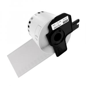 Etichete termice autocolante compatibile, Brother DK-22205, hartie alba, modul continuu, 62mmx30.48m, suport din plastic inclus DK22205-C0