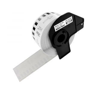 Etichete termice autocolante compatibile, Brother DK-22225, hartie alba, modul continuu, 38mmx30.48m, suport din plastic inclus DK22225, 10 role/set2