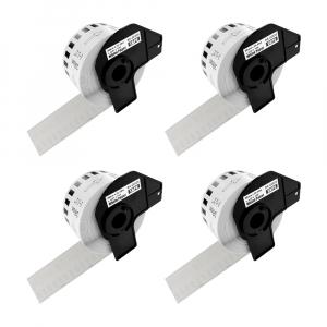 Etichete termice autocolante compatibile, Brother DK-22225, hartie alba, modul continuu, 38mmx30.48m, suport din plastic inclus DK22225, 4 role/set0