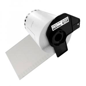 Etichete termice autocolante compatibile, Brother DK-22243, hartie alba, modul continuu, 102mmx30.48m, suport din plastic inclus DK22243-C0