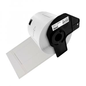 Etichete termice autocolante de transport compatibile, Brother DK-11202, hartie alba, permanente, 62mmx100mm, 300 etichete/rola, suport din plastic inclus DK11202-C0