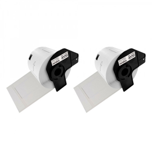 Etichete termice autocolante transport, compatibile, Brother DK-11209, hartie alba, permanente, 29mmx62mm, 800 etichete/rola, suport din plastic inclus. 2 role / set2