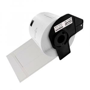 Etichete termice autocolante transport, compatibile, Brother DK-11209, hartie alba, permanente, 29mmx62mm, 800 etichete/rola, suport din plastic inclus. 2 role / set0