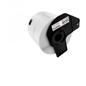Etichete termice autocolante transport, compatibile, Brother DK-11209, hartie alba, permanente, 29mmx62mm, 800 etichete/rola, suport din plastic inclus. 2 role / set3