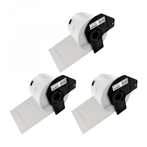 Etichete termice autocolante transport, compatibile, Brother DK-11209, hartie alba, permanente, 29mmx62mm, 800 etichete/rola, suport din plastic inclus. 3 role / set0