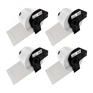Etichete termice autocolante transport, compatibile, Brother DK-11209, hartie alba, permanente, 29mmx62mm, 800 etichete/rola, suport din plastic inclus. 4 role / set0