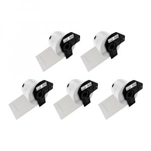 Etichete termice autocolante transport, compatibile, Brother DK-11209, hartie alba, permanente, 29mmx62mm, 800 etichete/rola, suport din plastic inclus. 5 role / set0