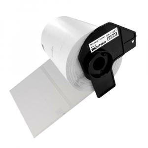 Etichete termice autocolante transport, compatibile, Brother DK-11241, hartie alba, permanente, 102mmx152mm, 200 etichete/rola, suport din plastic inclus DK11241-C0