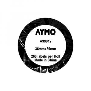 Etichete termice compatibile adrese mari, permanente, 89mmx36mm, hartie alba, 260 etichete/rola, 99012 S07224006