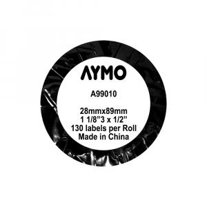 Etichete termice compatibile adrese, permanente, 28mm x 89mm, hartie alba, 130 etichete/rola, 99010 S07223708