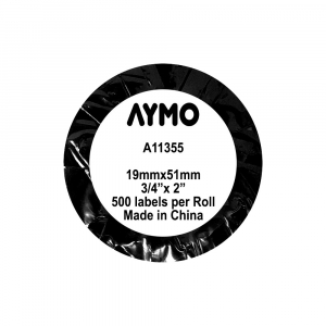 Etichete termice compatibile, DYMO LabelWriter, repozitionabile, 19mmx51mm, hartie alba, 11355 S0722550-C2