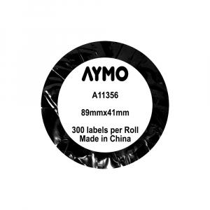 Etichete termice compatibile repozitionabile, 89mm x 41mm, hartie alba, 300 etichete/rola 11356 S0722560-C5