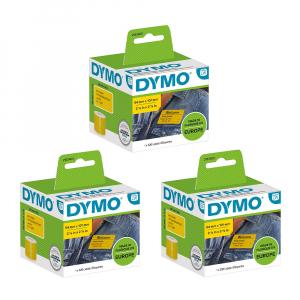 Set Etichete termice, DYMO LabelWriter, 54mmx101mm, hartie galbena, mesaje avertizare, adrese voiaj, permanente, 1 rola/cutie, 220 etichete/rola, 2133400, 990140