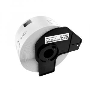 Etichete termice patrate compatibile Brother DK-11221, 23mm x 23mm, hartie alba, adeziv permanent, 1000 etichete/rola, suport din plastic inclus DK112213