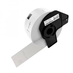 Etichete termice patrate compatibile Brother DK-11221, 23mm x 23mm, hartie alba, adeziv permanent, 1000 etichete/rola, suport din plastic inclus DK112210