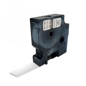Etichete tub termocontractibil compatibil 9mm x 1.5m, negru/alb, 18053 S0718280-C0