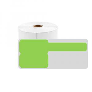 Etichete stegulet F pentru cabluri 25 x 30mm + 40mm verde, poliester, pentru imprimanta M110/M200, 100 buc/rola0
