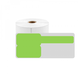 F-label tags for cables 30 x 45mm + 50mm green, polypropylene, for printers M110/M200, 80 pcs/roll0