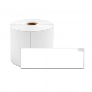 Etichete termice biblioraft 20 x 100 mm, plastic alb, permanente, 1 rola, 160 etichete/rola, pentru imprimanta M110 si M2000