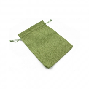 Saculet textil pentru cadouri cu snur, verde, 12.5 x 18 cm1