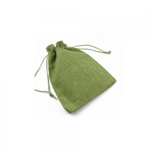 Green Textil Pouches with Drawstring for Jewelry Gift Bags 12.5 x 18 cm