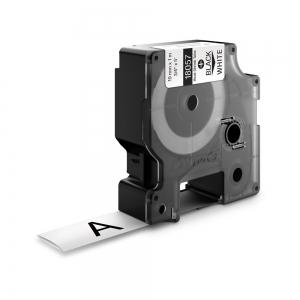 Etichete tub termocontractibil, DYMO ID1, 19mm x 1.5m, negru/alb, 18057, S0718330 DY180571
