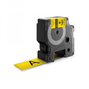 Etichete tub termocontractibil, DYMO ID1, 24mm x 1.5m, negru/galben, 1805444, S07183400