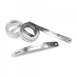 Etichete compatibile metalice embosabile industriale, 12mmx6,4m, otel inoxidabil DYA3250010