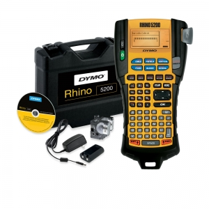 Aparat etichetat industrial Dymo Rhino 5200 kit cu servieta, ABC, 19mm, S0841400, 84140014