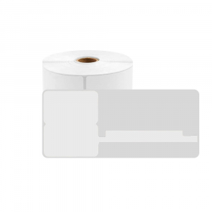 Etichete termice bijuterii 25 x 30mm + 45mm, plastic alb, pentru imprimanta M110/M200, 100 buc/rola0