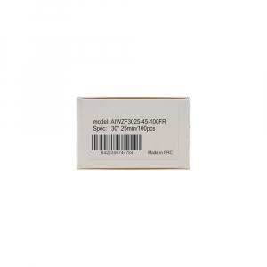 Etichete termice bijuterii 30 x 25mm + 45mm preimprimate model FuRong, suport plastic alb, pentru imprimanta M110/M200, 100 buc/rola7