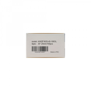 Etichete termice bijuterii 30 x 25mm + 45mm preimprimate model crengute maslin, suport plastic alb, pentru imprimanta M110/M200, 100 buc/rola7