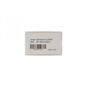 Etichete termice bijuterii 30 x 25mm + 47mm, plastic alb, doar pentru imprimanta M200, 230 buc/rola6