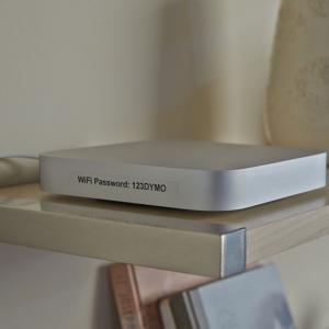 Aparat de etichetat LabelManager 360D QWERTY si 1 caseta etichete profesionale, 12 mmx7m, negru/transparent, S0879480, 450102