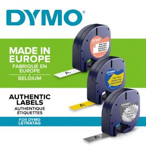 Etichetator/masina de etichete Dymo LetraTag Black Editie Limitata si 4 benzi originale Dymo, 2 x alb, galben si argintiu14