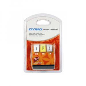 Etichetator/masina de etichete Dymo LetraTag Black Editie Limitata si 4 benzi originale Dymo, 2 x alb, galben si argintiu19