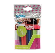 Batoane lipici Rapid Fun to Fix  cu diametrul de 7mm x 100mm, diferite culori, 100g, 20 buc/ pachet0